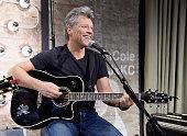 Jon Bon Jovi performs at the Jon Bon Jovi Kenneth Cole Curated Acoustic Concert MercedesBenz Fashion Week Fall 2015 on February 12 2015 in New York...