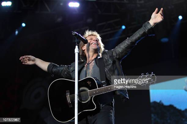Jon Bon Jovi performs at Westpac Stadium on December 4 2010 in Wellington New Zealand