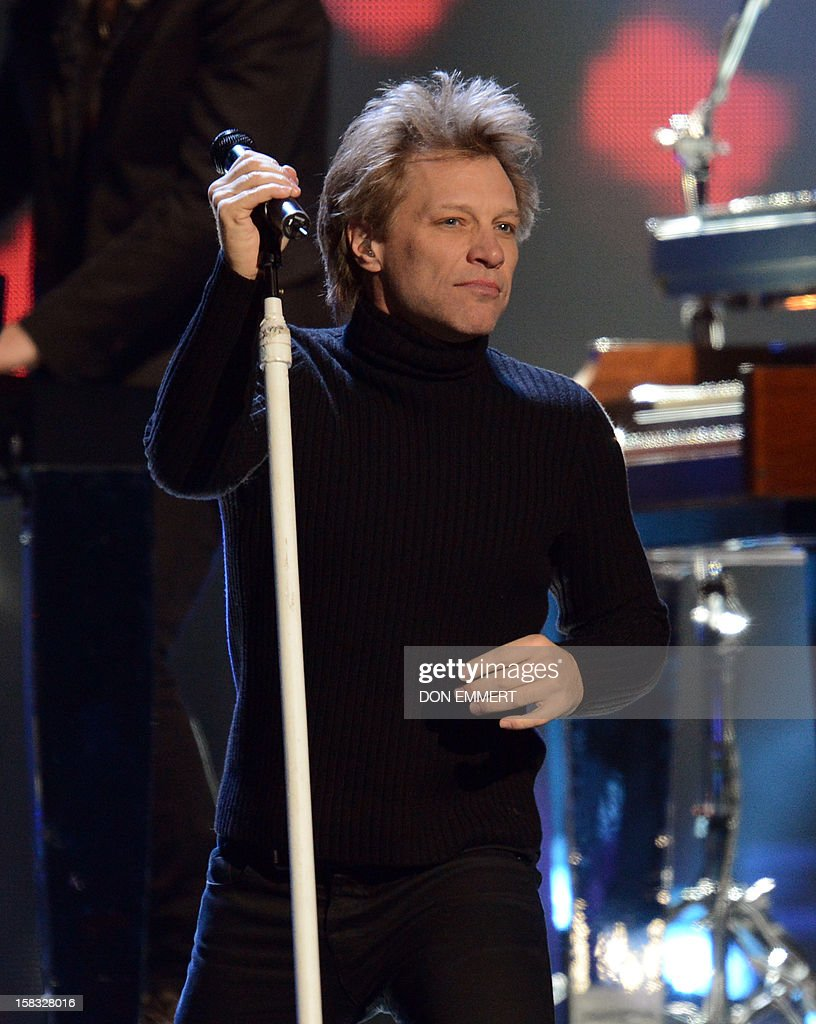 Jon Bon Jovi performs during '12-12-12 The Concert For Sandy Relief' December 12, 2012 at Madison Square Garden in New York.