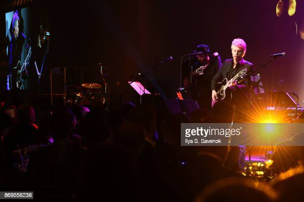 Jon Bon Jovi performs onstage at the Samsung annual charity gala 2017 at Skylight Clarkson Sq on November 2 2017 in New York City
