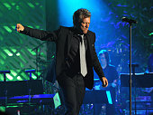 Jon Bon Jovi performs onstage at the Songwriters Hall of Fame 45th Annual Induction and Awards at Marriott Marquis Theater on June 12 2014 in New...