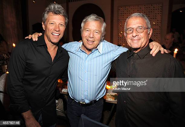 Jon Bon Jovi Robert Kraft and Ron Meyer attend Apollo in the Hamptons at The Creeks on August 16 2014 in East Hampton New York