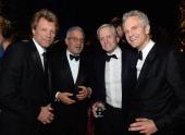 Jon Bon Jovi Ron Meyers Michael Douglass and John Sykes attends the Bloomberg Vanity Fair cocktail reception following the 2013 WHCA Dinner at the...