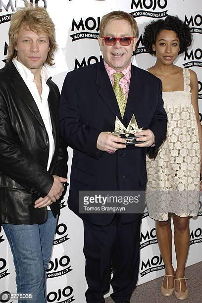 Jon Bon Jovi with Sir Elton John and Corinne Bailey Rae