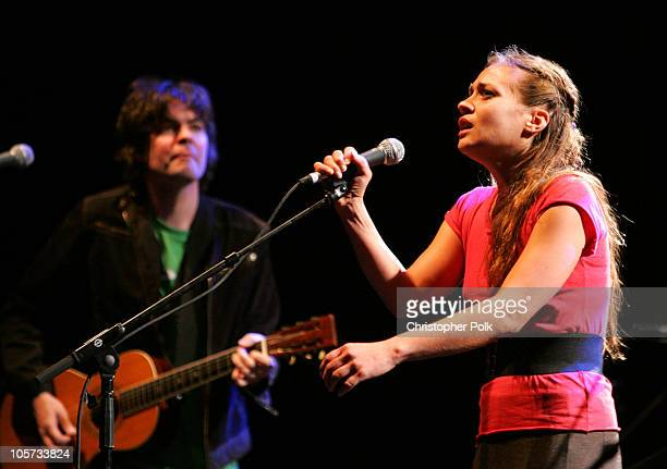 Jon Brion and Fiona Apple during The Benefit Concert for Katrina Relief with Tenacious D September 22 2005 at Wiltern Theater LG in Los Angeles...