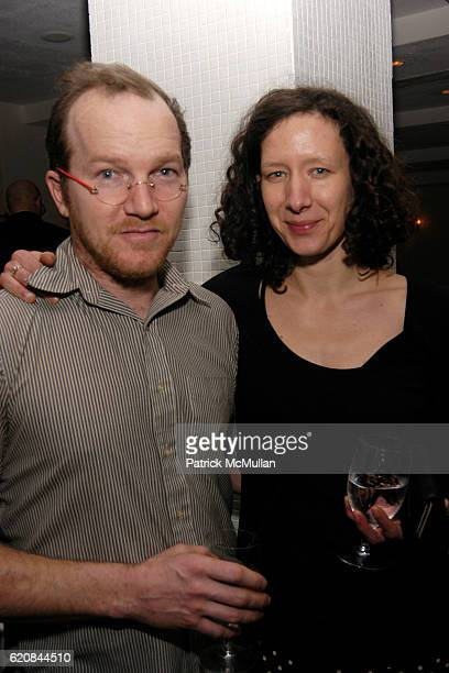 Jon Brumit and Sarah Wagner attend Whitney Biennial Artists Party at Trata Estiatoria on March 8 2008 in New York City