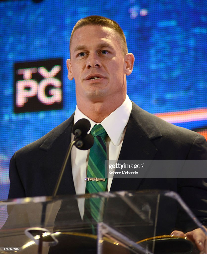 Jon Cena arrives to the WWE SummerSlam Press Conference at Beverly Hills Hotel on August 13, 2013 in Beverly Hills, California.