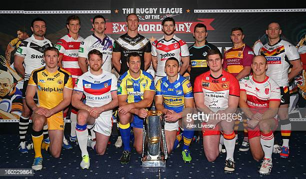 Jon Clarke of Widnes Vikings Sean O'Loughlin of Wigan Warriors Stephen Wild of Salford City Reds Gareth Ellis of Hull FC Paul Wellens of St Helens...