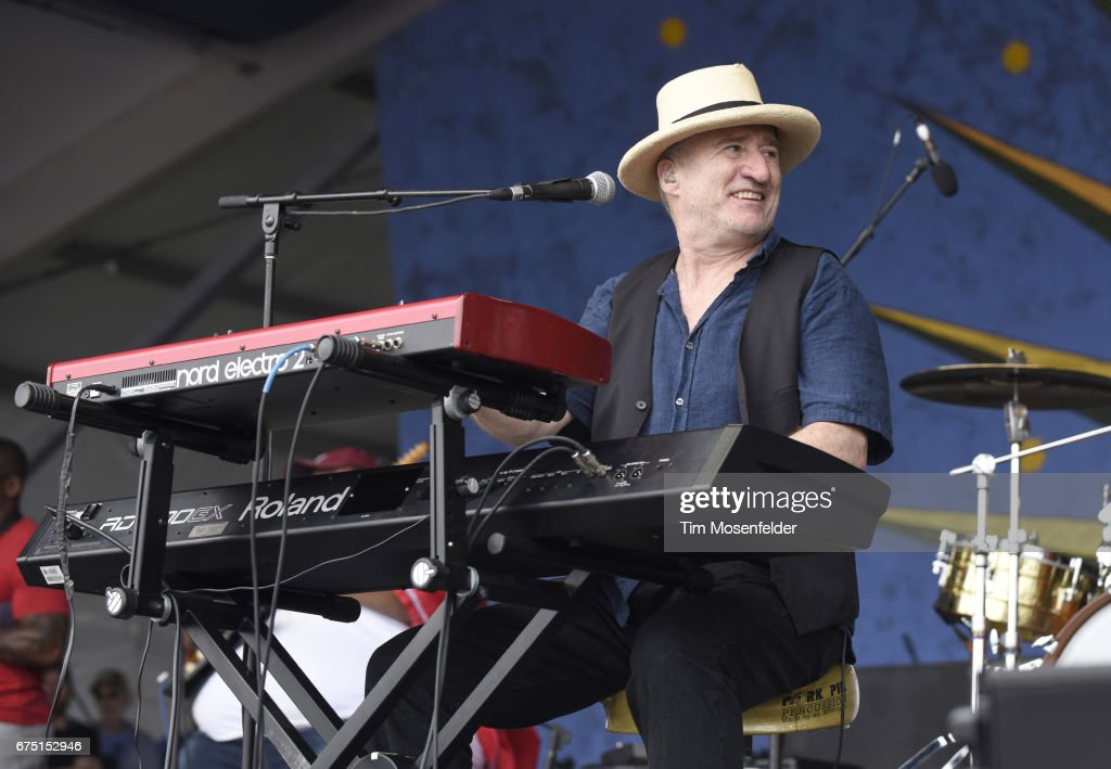 Jon Cleary performs during the 2017 New Orleans Jazz & Heritage Festival at Fair Grounds Race Course on April 29, 2017 in New Orleans, Louisiana.