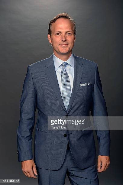 Jon Cooper of the Tampa Bay Lightning poses for a portrait during the 2014 NHL Awards at Encore Las Vegas on June 24 2014 in Las Vegas Nevada
