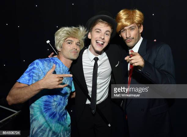 Jon Cozart and backup dancers at the 2017 Streamy Awards at The Beverly Hilton Hotel on September 26 2017 in Beverly Hills California