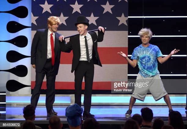 Jon Cozart and backup dancers perform onstage during the 2017 Streamy Awards at The Beverly Hilton Hotel on September 26 2017 in Beverly Hills...