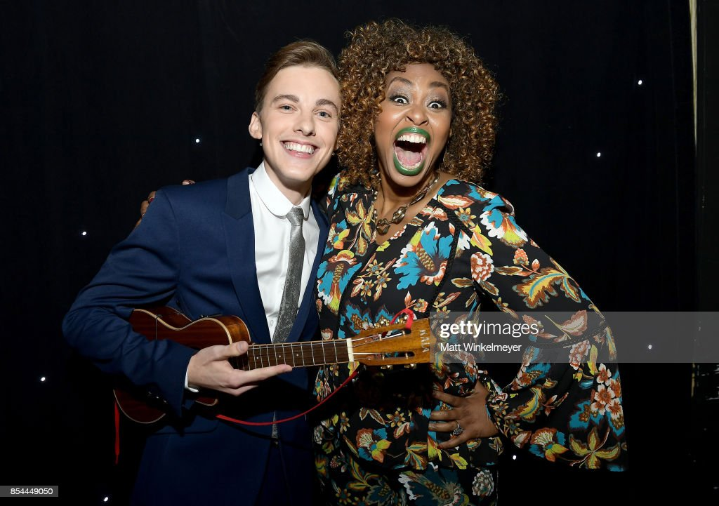 Jon Cozart and GloZell Green at the 2017 Streamy Awards at The Beverly Hilton Hotel on September 26, 2017 in Beverly Hills, California.