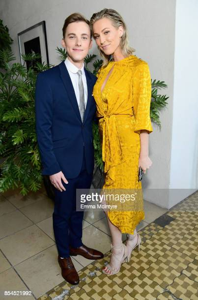 Jon Cozart and Sarah Weichel at the 2017 Streamy Awards at The Beverly Hilton Hotel on September 26 2017 in Beverly Hills California