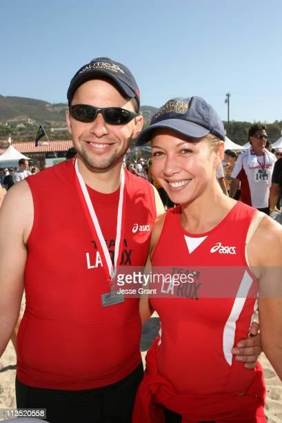 Jon Cryer and Lisa Joyner during The 20th Annual Nautica Malibu Triathlon for the Elizabeth Glaser Pediatric AIDS Foundation at Zuma Beach in Malibu...