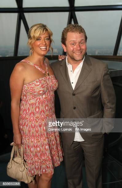 Jon Culshaw and Caroline Feraday at the Richard BalfourLynn's AHG AND MWB Group and Variety Club Children's Charity Party held at the top of the...