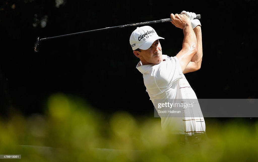 Jon Curran of the USA hits his tee shot on the eighth hole during the third round of the 2014 Brasil Champions Presented by HSBC at the Sao Paulo Golf Club on March 15, 2014 in San Paulo, Brazil.