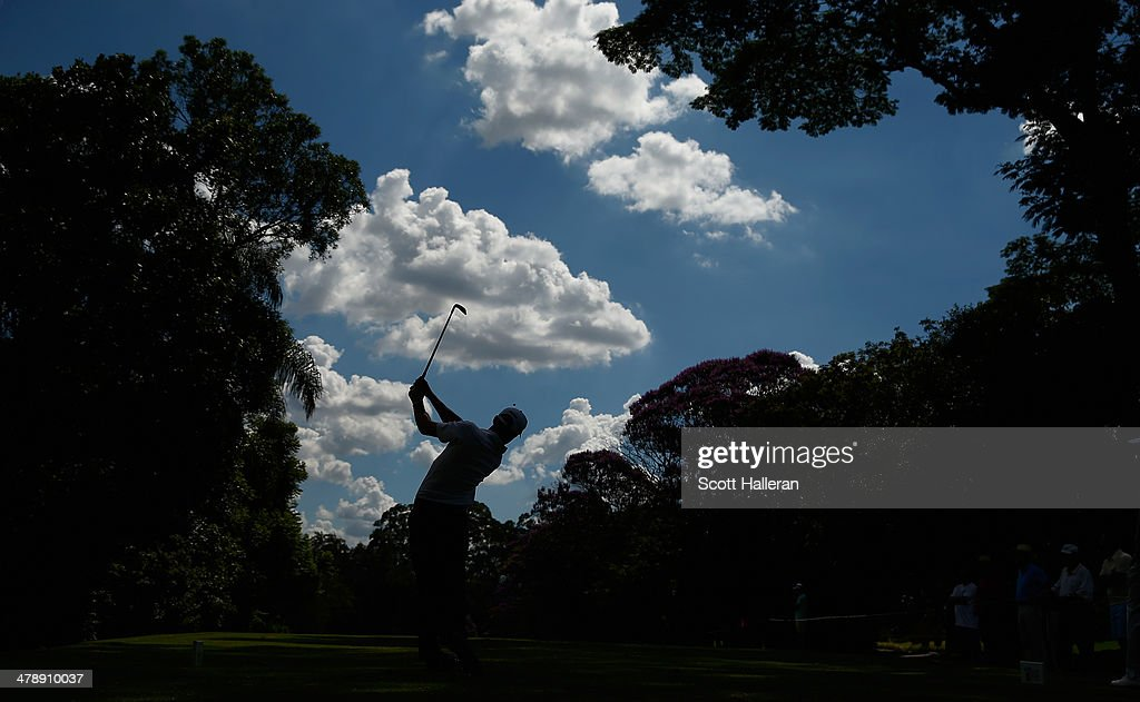 Jon Curran of the USA hits his tee shot on the seventh hole during the third round of the 2014 Brasil Champions Presented by HSBC at the Sao Paulo Golf Club on March 15, 2014 in San Paulo, Brazil.