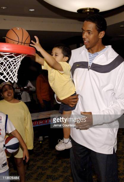 Jon Dre and Channing Frye during Richard Jefferson and Channing Frye Visit The Ronald McDonald House in New York City at Ronald McDonald House New...