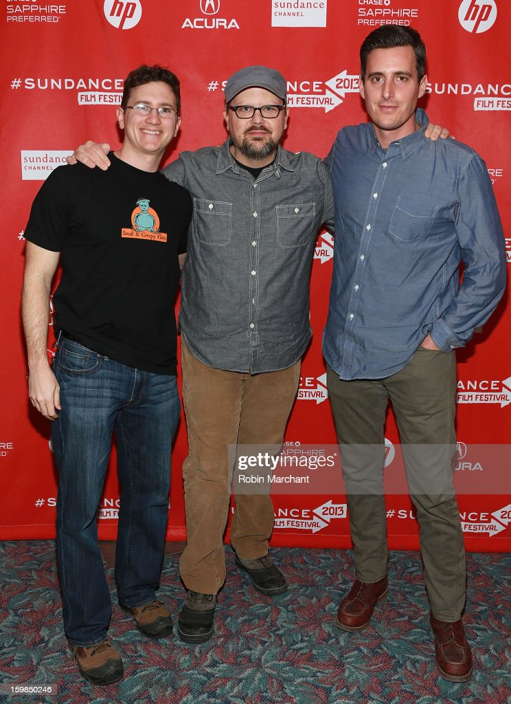 Jon Duffy, Kelly Williams and Eric Steele attend 'Pit Stop' Premiere at Prospector Square on January 21, 2013 in Park City, Utah.