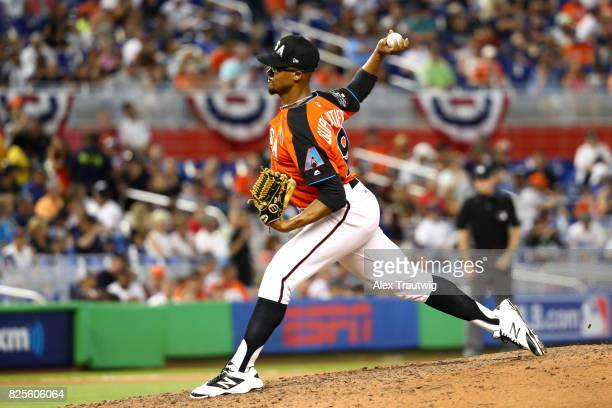 Jon Duplantier of Team USA pitches during the SirusXM AllStar Futures Game at Marlins Park on Sunday July 9 2017 in Miami Florida