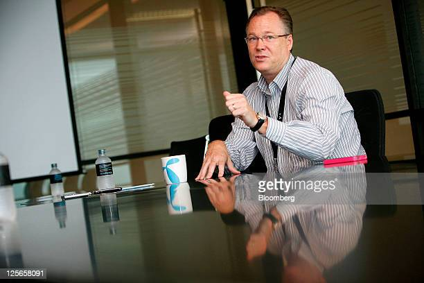 Jon Eddy Abdullah chief executive officer of Total Access Communication Pcl speaks during an interview in Bangkok Thailand on Monday Sept 19 2011...