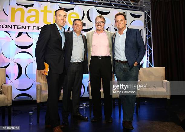 Jon Erlichman Ted Sarandos Vince Gilligan and Mitch Hurwitz attends Storytellers and the Shaping of Pop Culture A Chat With Ted Sarandos Mitch...