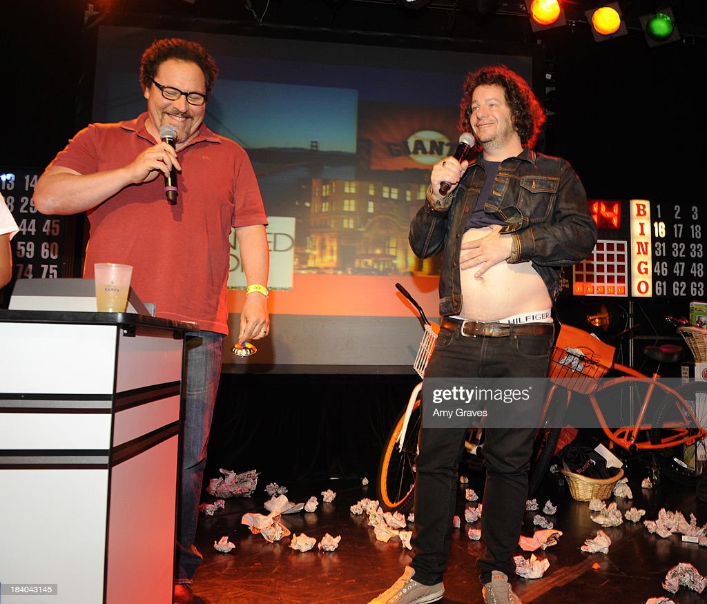 Jon Favreau and Jeffrey Ross attend Bingo At The Roxy to Benefit The Painted Turtle at The Roxy Theatre on October 10, 2013 in West Hollywood, California.