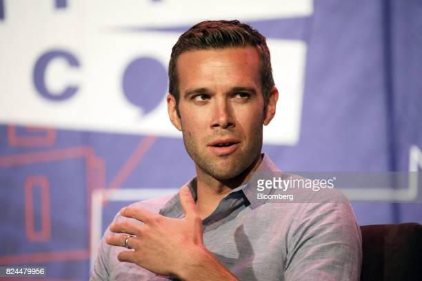 Jon Favreau former chief speechwriter for President Barack Obama speaks during the Politicon convention inside the Pasadena Convention Center in...