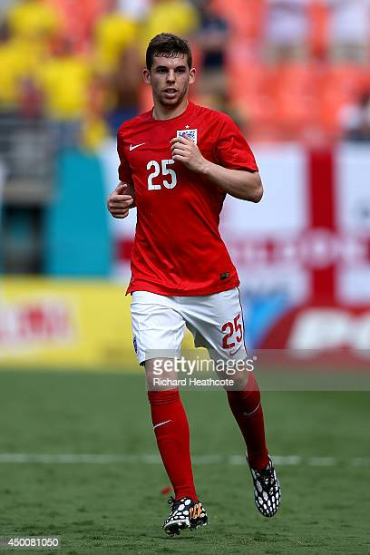 Jon Flanagan in action during the International friendly match between England and Ecuador at Sun Life Stadium on June 4 2014 in Miami Gardens Florida
