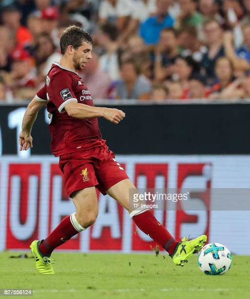 Jon Flanagan of Liverpool controls the ball during the Audi Cup 2017 match between Liverpool FC and Atletico Madrid at Allianz Arena on August 2 2017...