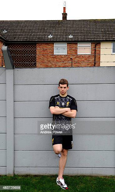 Jon Flanagan of Liverpool poses for a portrait at Melwood Training Ground in Liverpool England