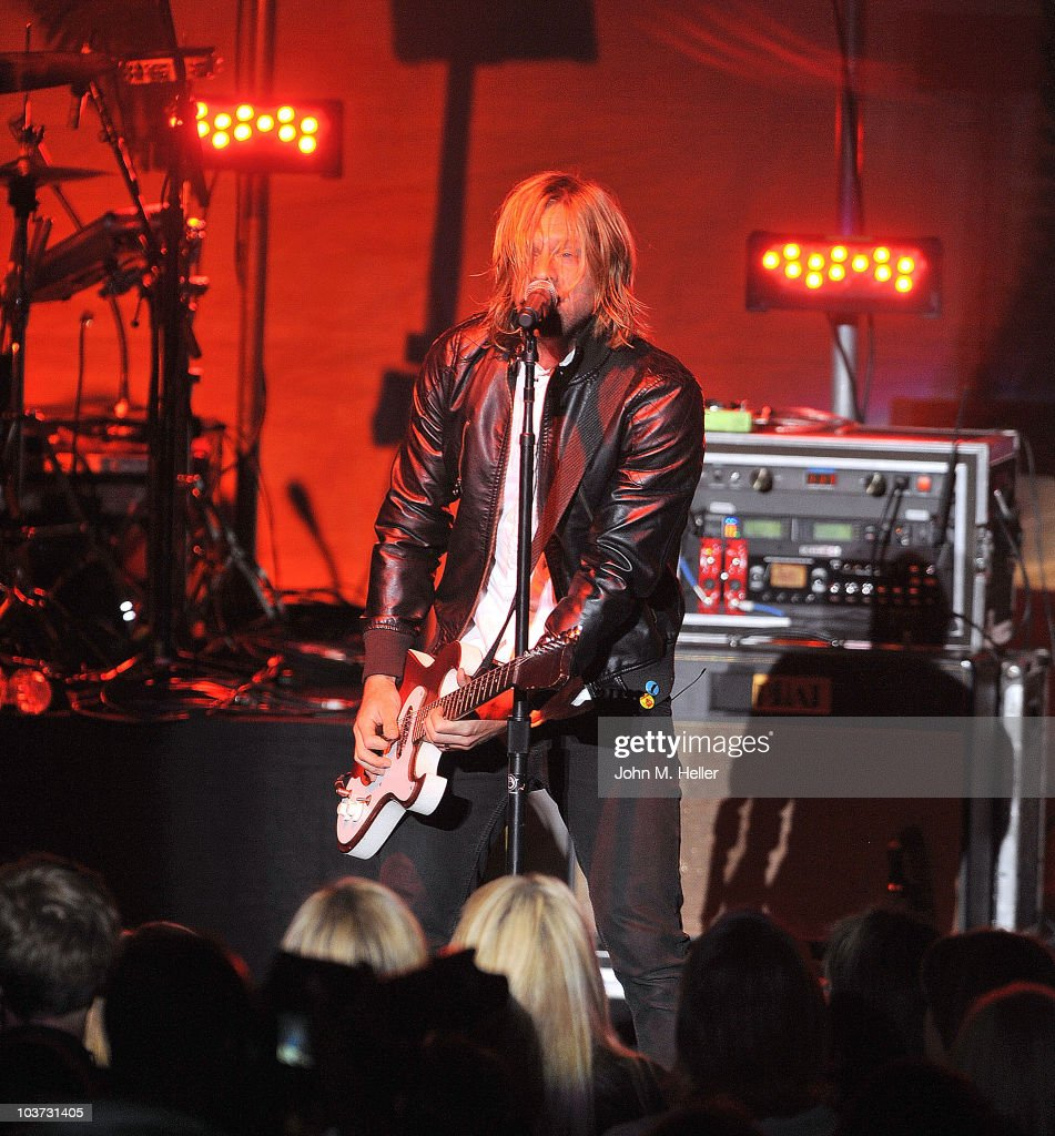Jon Foreman lead singer of the group Switchfoot performs at the Greek Theater on August 29, 2010 in Los Angeles, California.