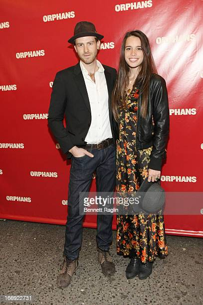 Jon Foster and Chelsea Tyler attend the 'Orphans' Broadway Opening Night at the Gerald Schoenfeld Theatre on April 18 2013 in New York City