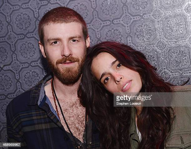 Jon Foster and Chelsea Tyler of Kaneholler attend The Ting Tings in concert at Webster Hall on April 8 2015 in New York City