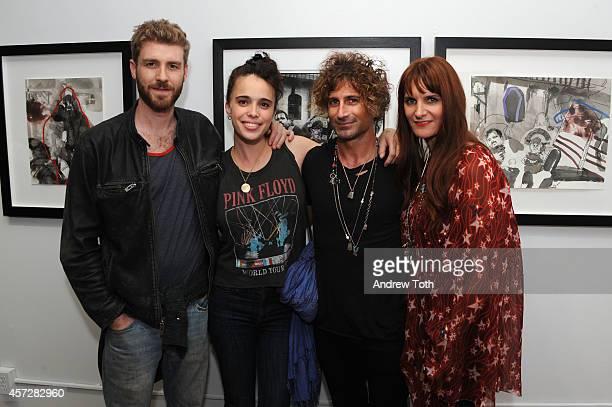 Jon Foster Chelsea Tyler Todd DiCiurcio and Megan DiCiurcio attend the opening reception of Americana No Depression at Melet Mercantile Gallery on...