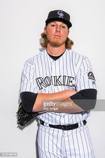 Jon Gray of the Colorado Rockies poses for a portrait at the Salt River Fields at Talking Stick on February 29 2016 in Sottsdale Arizona
