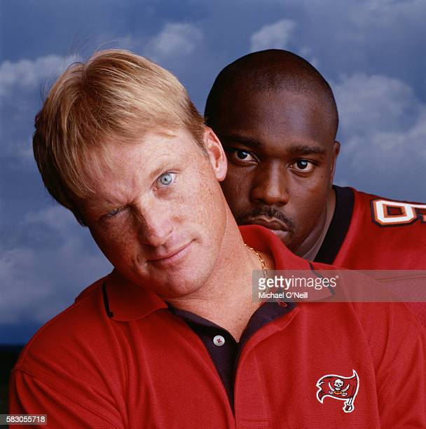Jon Gruden and Warren Sapp