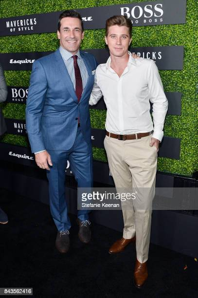 Jon Hamm and Garrett Hedlund attend Esquire Celebrates September Issue's 'Mavericks of Style' Presented by Hugo Boss at Chateau Marmont on September...