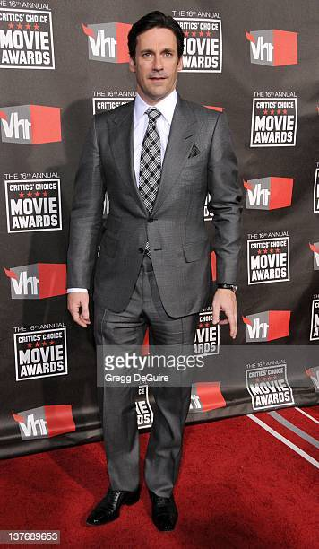 Jon Hamm arrives at The 16th Annual Critics' Choice Movie Awards at the Hollywood Palladium on January 14 2011 in Hollywood California
