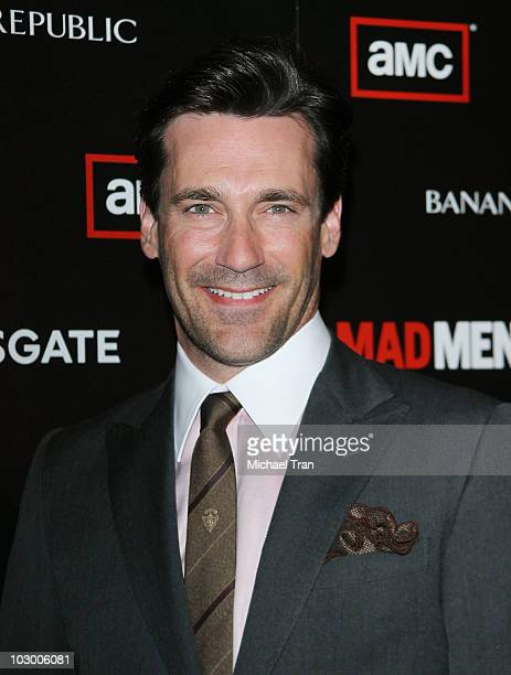 Jon Hamm arrives to AMC's 'Mad Men' season 4 premiere held at Mann Chinese 6 on July 20 2010 in Los Angeles California