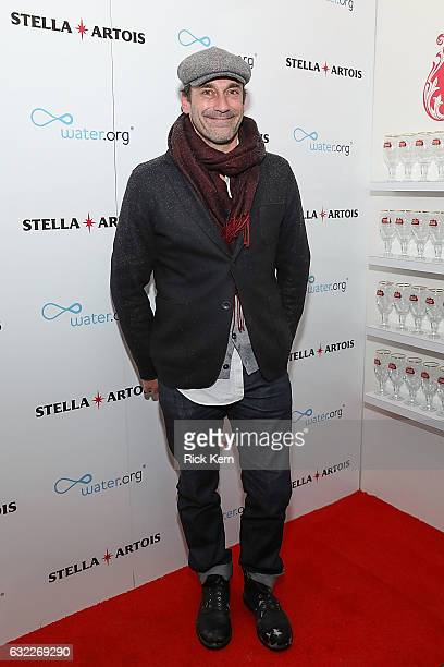 Jon Hamm at the 'Ingrid Goes West' party in the Stella Artois Filmmaker Lounge during the Sundance Film Festival on January 20 2017 in Park City Utah