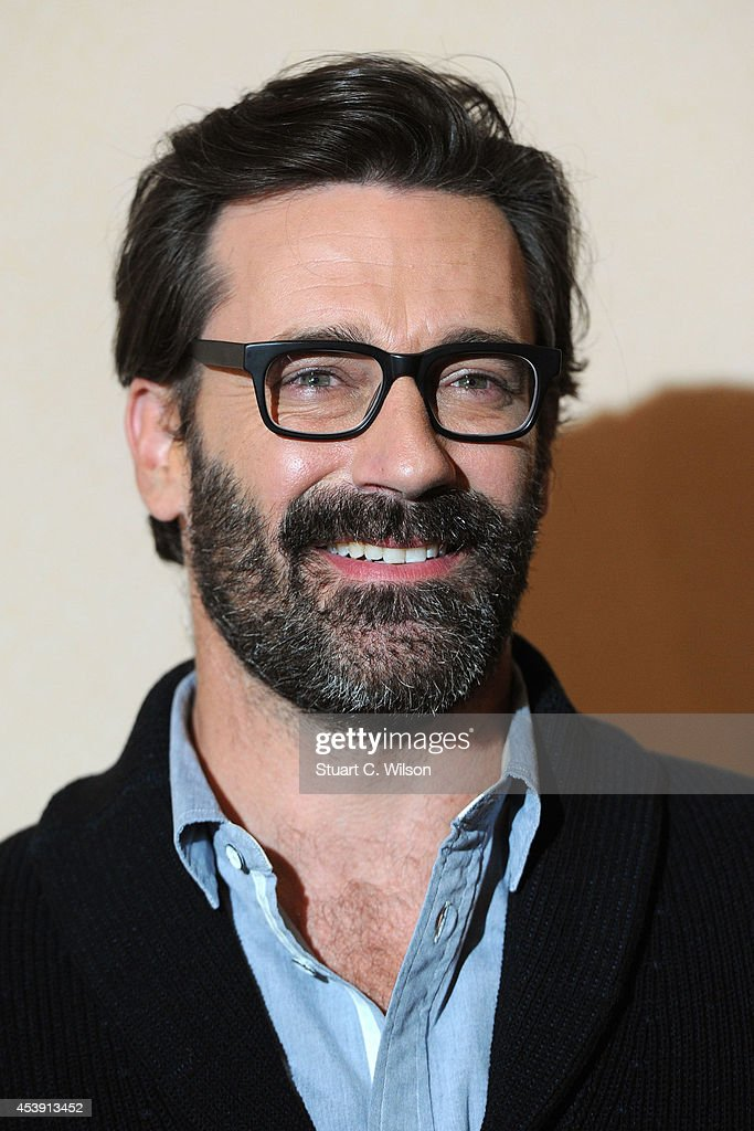Jon Hamm attends a screening of 'Million Dollar Arm' at May Fair Hotel on August 21 2014 in London England