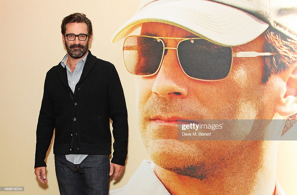 <a gi-track='captionPersonalityLinkClicked' href=/galleries/search?phrase=Jon+Hamm&family=editorial&specificpeople=3027367 ng-click='$event.stopPropagation()'>Jon Hamm</a> attends a screening of 'Million Dollar Arm' at The May Fair Hotel on August 21, 2014 in London, England.