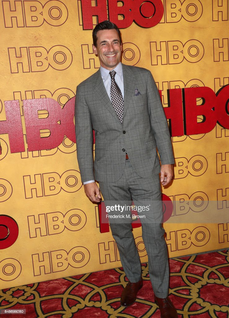 Jon Hamm attends HBO's Post Emmy Awards Reception at The Plaza at the Pacific Design Center on September 17, 2017 in Los Angeles, California.