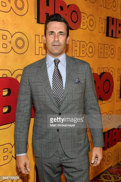 Jon Hamm attends HBO's Post Emmy Awards Reception at The Plaza at the Pacific Design Center on September 17 2017 in Los Angeles California