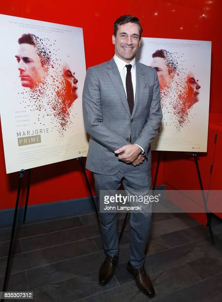 Jon Hamm attends 'Marjorie Prime' New York premiere on August 18 2017 in New York City