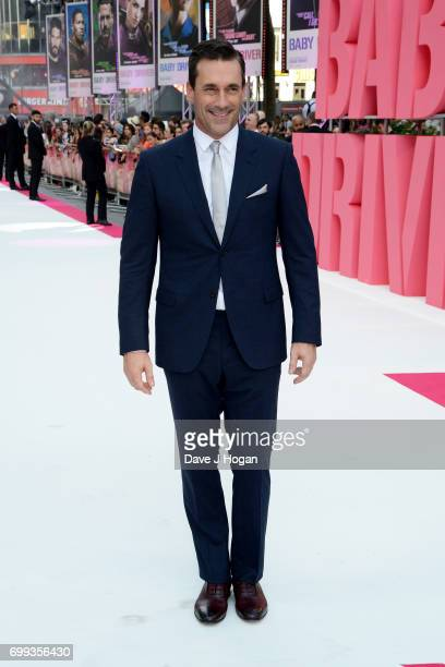 Jon Hamm attends the European Premiere of 'Baby Driver' at Cineworld Leicester Square on June 21 2017 in London England
