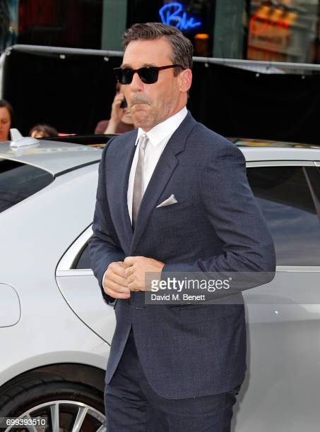 Jon Hamm attends the European Premiere of 'Baby Driver' at Cineworld Leicester Square on June 21 2017 in London United Kingdom
