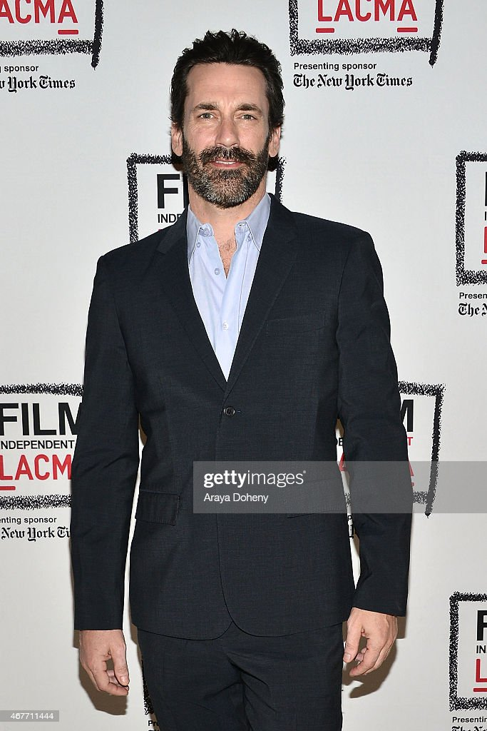 Jon Hamm attends the Film Independent at LACMA presents A Tribute To Mad Men Part One at Bing Theatre At LACMA on March 26 2015 in Los Angeles...